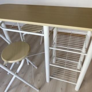 【ネット決済】コンパクトなダイニングセット!(テーブルと椅子2脚)