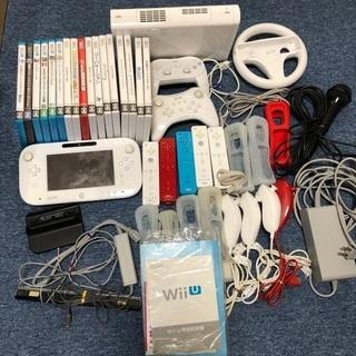 【ネット決済・配送可】WiiU 本体一式+WiiU、Wiiソフト...