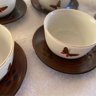 HANAE MORI 湯呑茶碗 ソーサー付き