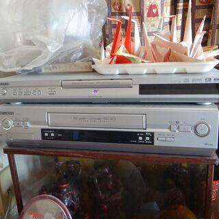 三菱 VHSビデオ(HV-G500)、DVDプレーヤー(DJ-P...