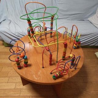 【10/19値下げ】知育玩具 大きなルーピング(直径68cm高さ...