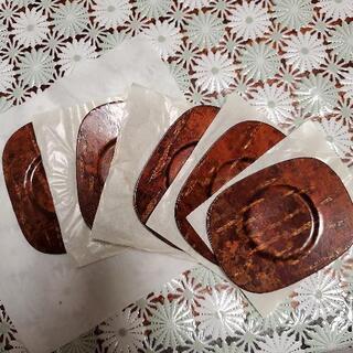 桜皮細工 茶托 小判型 未使用品 5枚セット