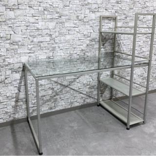 KG-24 美品 ガラストップ システムデスク