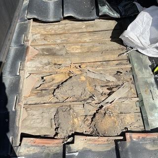 小郡市にて雨漏り・漏水補修工事(ルーフィング張替え・漆喰塗り直し)
