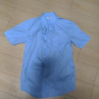 ユニクロ 半袖ワイシャツ 青