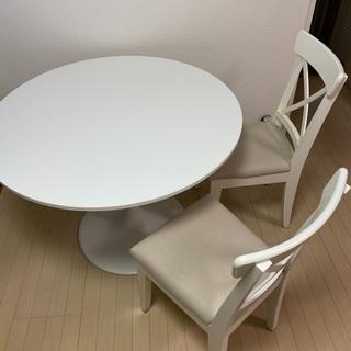 【ネット決済】IKEA ダイニングテーブル&チェア2脚