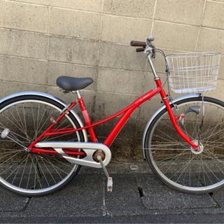 【整備済自転車】27インチ 変速なし LEDオートライト付…