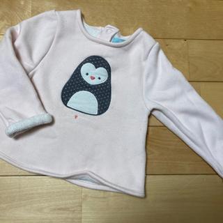 大きなペンギン柄のもふもふ長袖