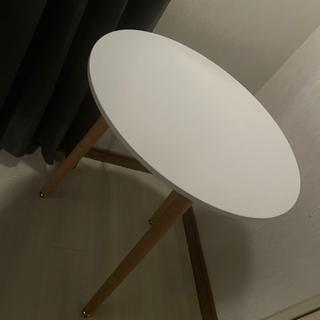 カフェテーブル ホワイト直径約60×高さ約70cm 丸型