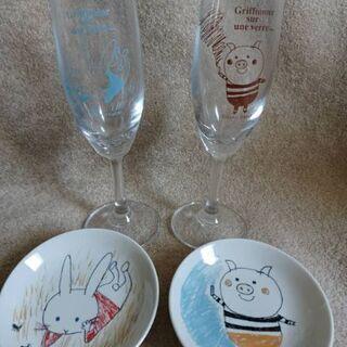 新品グラスお皿セット