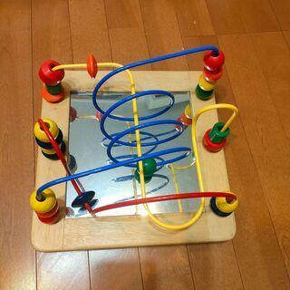 木製 鏡付き ルーピング 知育玩具 ★場所によってはお届け可能 ...