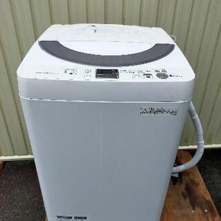 SHARP 全自動洗濯機 ES-GE55N-S クリーニング済み