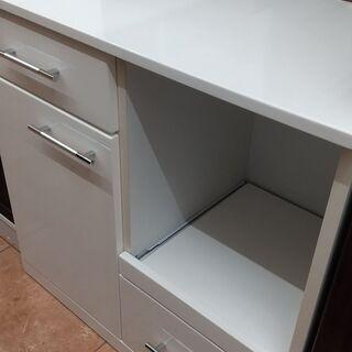 ★お買い得品★サン キッチンカウンター キッチン収納 ホワイト