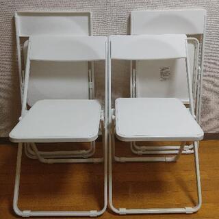 4脚セット サンワダイレクト 折りたたみ椅子 軽量 おしゃ…