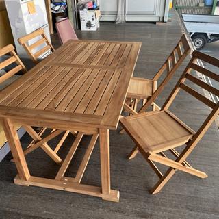 マホガニー無垢板!テーブル&椅子セット