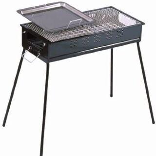 【新品】グリーンライン BBQコンロ 65cm 鉄板と網付き