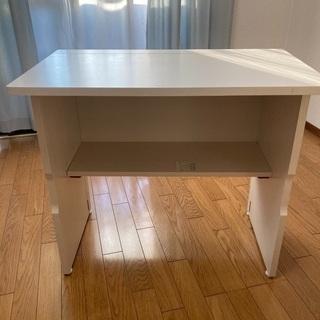 折りたたみテーブル 棚付き 幅80 (山善)★2000円