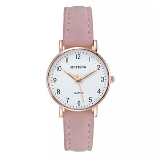 レディース ピンク腕時計 シンプルな腕時計