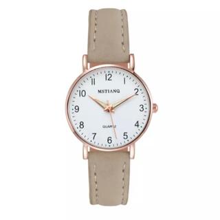 レディース グレージュ腕時計 シンプルな腕時計