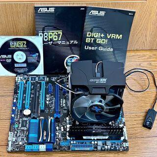 CPU+マザー+ファン+メモリ core i7 2600k p8...