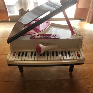【ネット決済】子供用 トイピアノ グランドピアノ マイク、脚付き