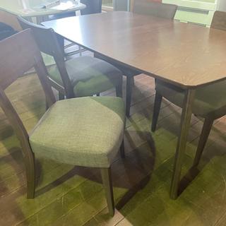 食卓5点セット!伸長式テーブル!椅子4脚付き!8万円