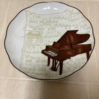 お皿 ピアノ柄 19cm