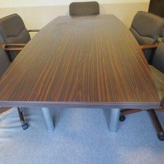 応接用テーブル&椅子6脚セット