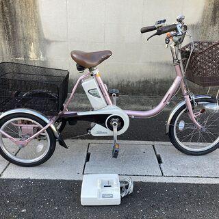 中古 パナソニック 電動アシスト三輪自転車 13.2Ah かろや...