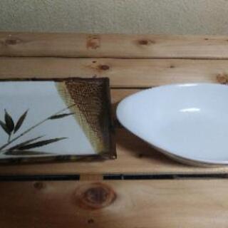 皿(刺し身 & カレー)