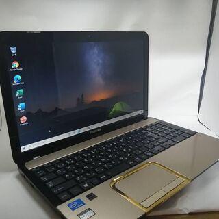 東芝 EX47ゴールド サクサクPC美品 WIN10 SSD O...