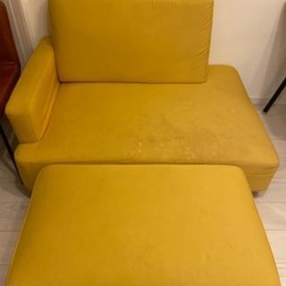 無料でお譲りします!黄色ソファ