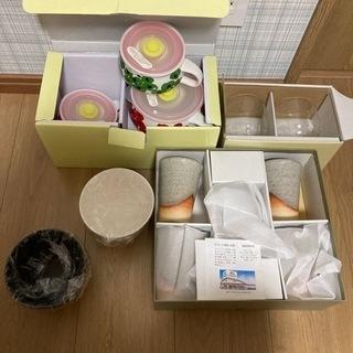 【ネット決済】湯呑み、グラス、蓋付きお皿、ペアお椀