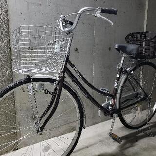 自転車27インチ 美品 後ろカゴ付き - 家電