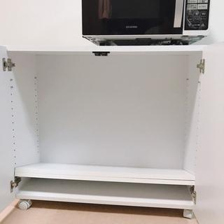 収納棚 クローゼット 白 ホワイト - 家具