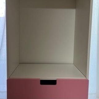 【お話中】IKEAstuva衣類用クローゼット(ホワイト・ピンク...