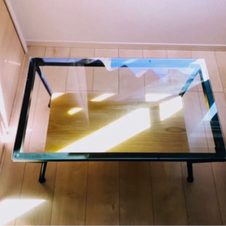 【美品】ガラス ローテーブル