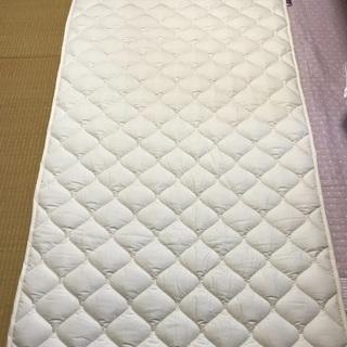 【ネット決済】洗える羊毛ベッドパッド シングル ウール1.5kg...