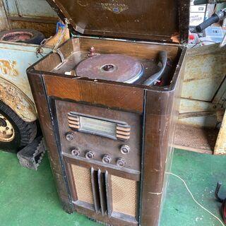 ラジオ付 真空管レコードプレーヤー