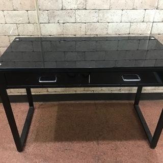 S31 ガラステーブル 引き出し付き テーブル 机 家具