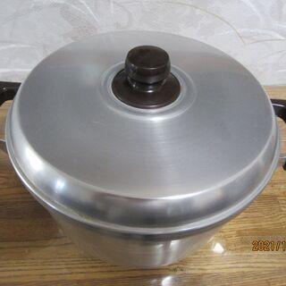 【中古】蒸し器1段 鍋内側約27cm高さ約15cm