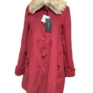 【ネット決済・配送可】赤いコート