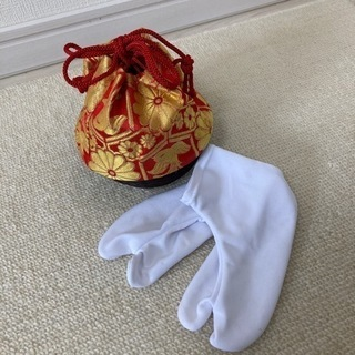 レトロ巾着&たび&かんざしのセット
