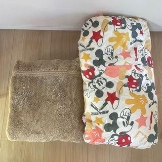 美品☆カバー付き☆ 掛け布団・軽量毛布 2点セット