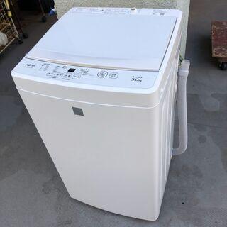 美品★AQUA 全自動洗濯機 2020年製 5.0kg AQW1...