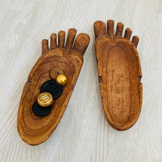 エスニック👣足形の小物置き👣2つセット