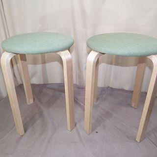 木製丸椅子 2脚セット ダイニングスツール  スツール 丸…