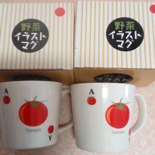 新品 トマトのマグカップ2つ
