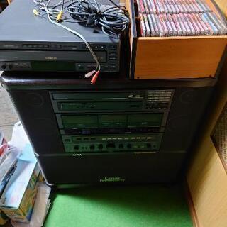 レーザーディスクカラオケとビデオCDのセット