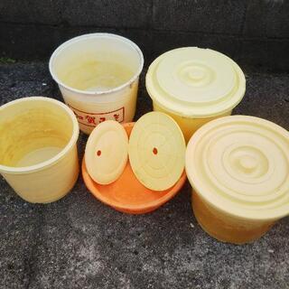 《無料》漬物桶!味噌やかぶら寿司用 樽たる4個セット